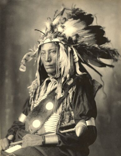 Native American Indian Chief-1898  High Hawk, Sioux Indian Chief-Pineridge-PHOTO