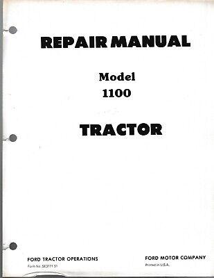 Ford 1100 Series Tractor Repair Manual