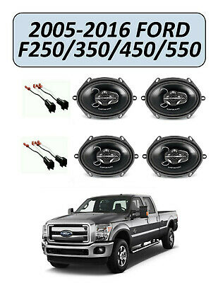 FORD F-250/350/450/550 2005-2016 Factory Speakers Replacement Kit, QUANTUM