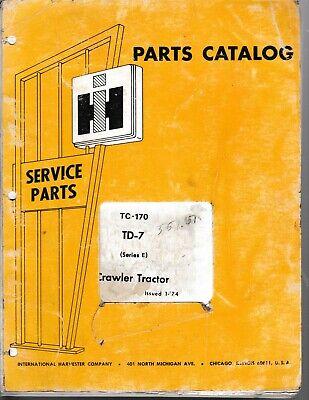 International Td-7 Series E Crawler Tractor Parts Manual