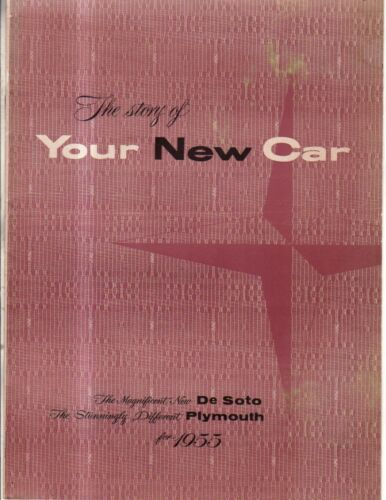 1955 DeSoto and Plymouth sales catalog. Your New Car - shows Belmont, Adventurer