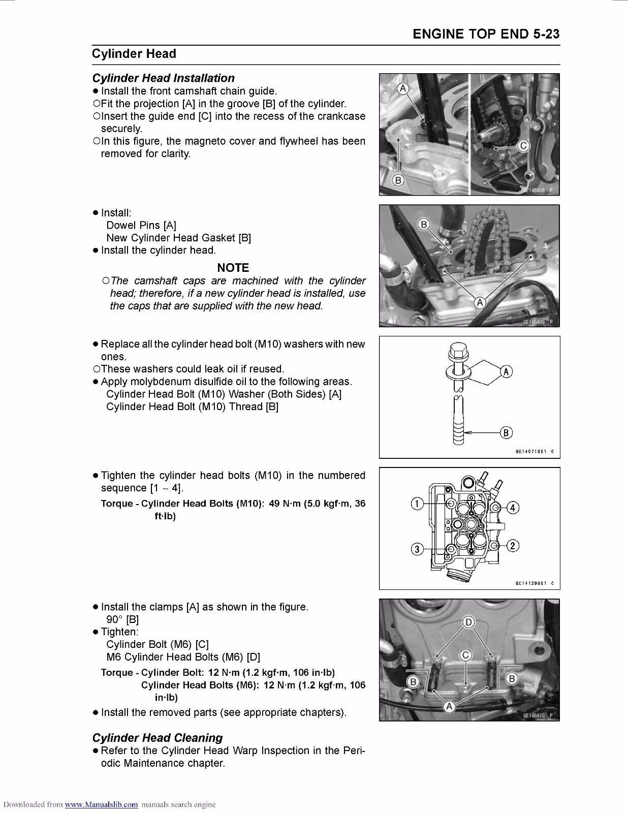 3 of 12 Kawasaki service workshop manual 2011 & 2012 KX250F