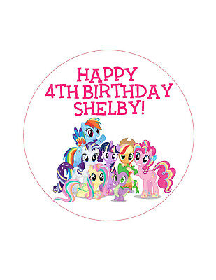 - 24 Personalized Birthday Party 1.5 in. lollipop Sticker labels - My Little Pony