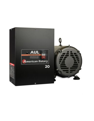 American Rotary Phase Converter AUL20 20HP Digital Smart Series Extreme Duty USA