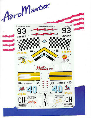 Aeromaster 1/48 48-083 Thunderbolts Galore II Decal Sheet
