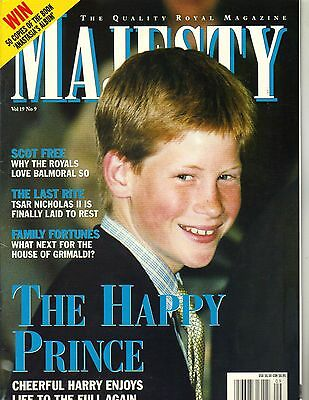 Prince Harry Majesty Magazine 9 98 Vol 19 No 9 Scot Free Tsar Nicholas Ii