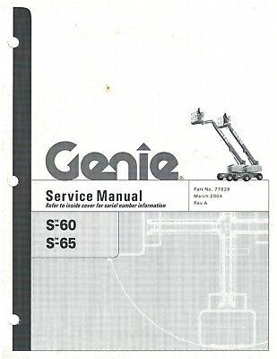 2004 Genie Model S-60 S-65 Service Manual 77828 D1575
