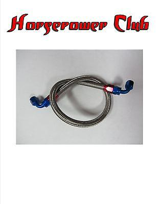 "Steel Braided Fuel Line -6an 18"" 90 Degree Hose Ends 610160"