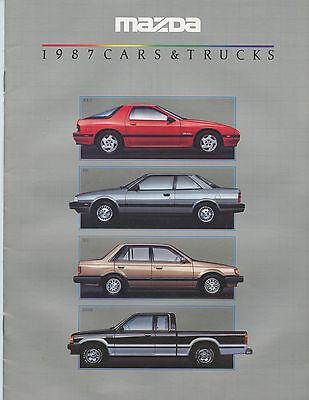 1987 MAZDA ADVERTISING BROCHURE (FULL COLOR, ALL MODELS, SPECIFICATIONS)