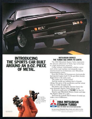 "1984 Mitsubishi Starion ES Turbo Coupe photo ""High Performance"" vintage print ad"