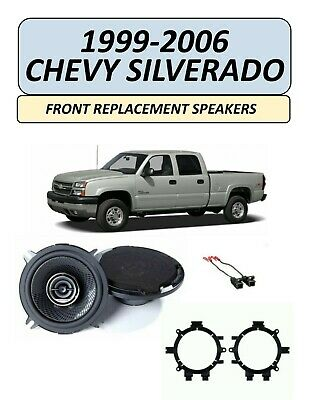 Fits Chevy Silverado Truck 1999-2006 FRONT Speaker Upgrade Combo Kit, KENWOOD