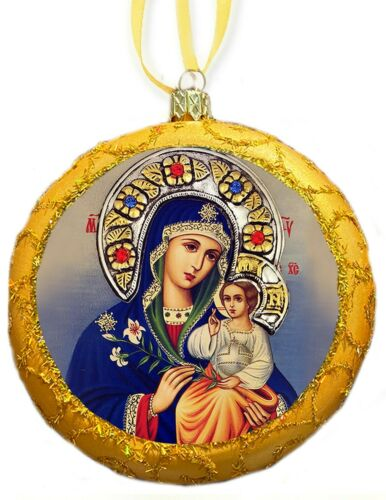 Madonna and Child Christmas Ornament Saint Mary Baby Jesus Eternal Bloom Gift