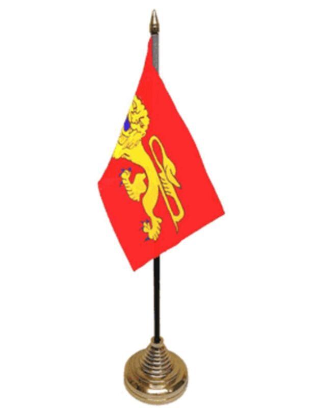 """AQUITAINE DESKTOP TABLE FLAG 6""""X4"""" 15cm x 10cm flags FRANCE FRENCH BORDEAUX"""