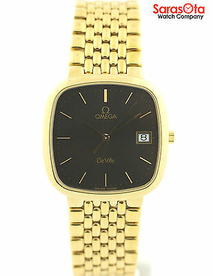 $750.00 - Omega DeVille Gold Tone Stainless Steel Swiss Quartz Luxury Dress Men's Watch