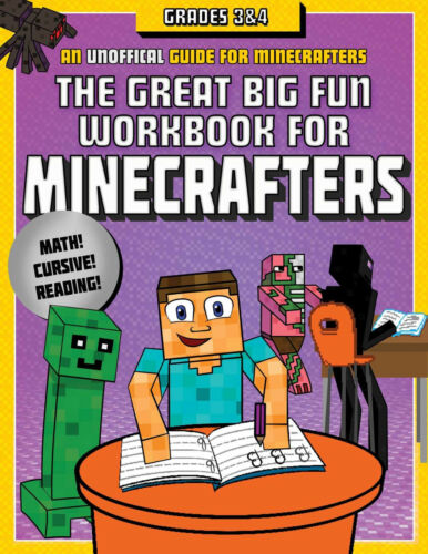 Minecraft: The Great Big Fun Workbook for Minecrafters: Grades 3 & 4 NEW