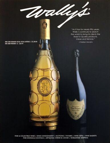 2002 Louis Roederer Cristal SE & 2005 Dom Perignon Bottle photo 2016 print ad