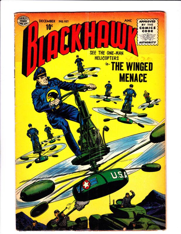 Blackhawk  No.107   : 1956  :     : Last Quality Issue! :