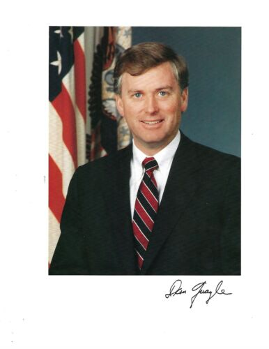 Dan Quayle VP & Former Senator from Indiana Signed 8x10 Photo