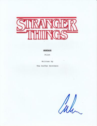 Caleb McLaughlin Signed Stranger Things Pilot Episode Full Script
