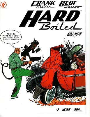 Hard Boiled #1 (Sep 1990, Dark Horse) signed by Frank Miller and Geof Darrow