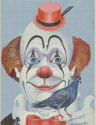 Clown with Bird Counted Cross Stitch Chart  No. 3-2