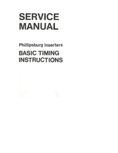 Bell & Howell Phillipsburg Inserters Service Manual (pdf file)(022)
