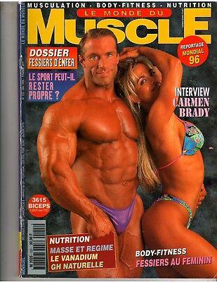 Le Monde Du Muscle  155 Bodybuilding Magazine Amy Fadhli Mike Francois 5 96 Fr