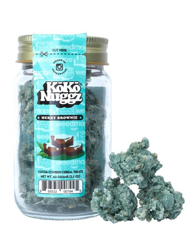 KOKO NUGGZ BROWNIE MERRY COOKIES (60g) (2.1OZ) Buds flower dank cookies (no thc)