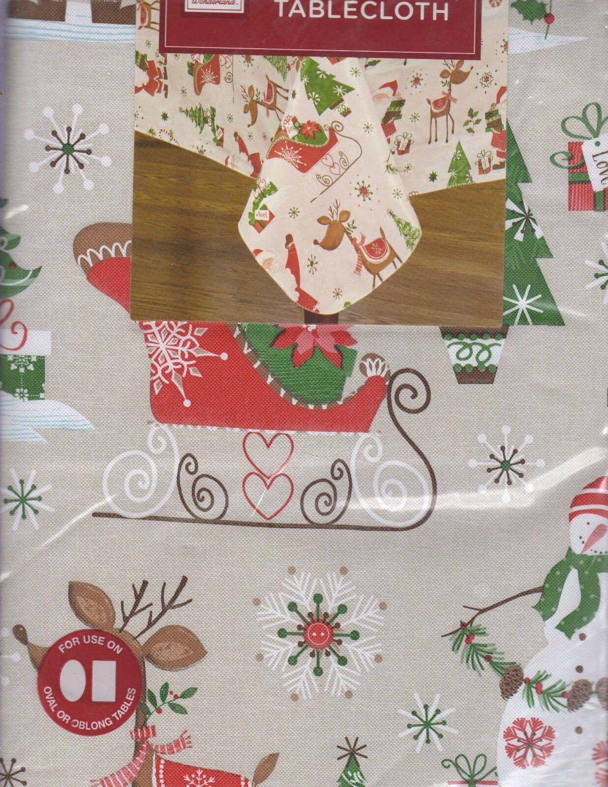 NEW MAGICAL JOURNEY CHRISTMAS TABLECLOTH VINYL FLANNEL BACKE