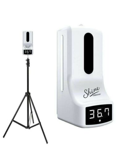 AUTOMATIC SANITIZER/SOAP DISPENSER AND INFRARED THERMOMETER WITH FLOOR STAND