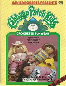 Cabbage-Patch-Kids-CROCHETED-FUNWEAR-Xavier-Roberts-Crochet-Pattern-Book-NEW-OOP