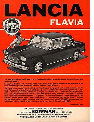1962 LANCIA FLAVIA  ~  CLASSIC ORIGINAL PRINT AD