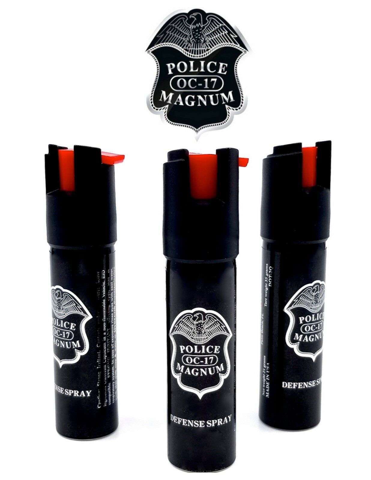 3 PACK Police Magnum pepper spray 3/4oz Safety Lock Defense Security Protection