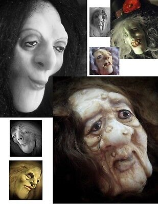 YOUR CHOICE Silicone Molds of Witch Hag Warlock Sorceress Zombie Ghoul Doll Face](Zombie Witch)