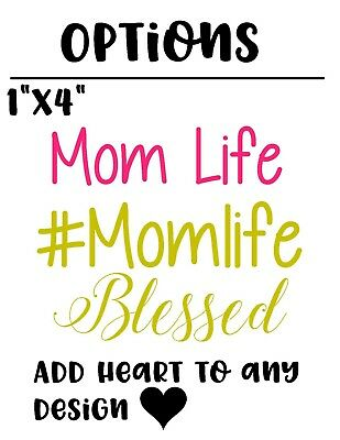Monogram Vinyl Decal Mom Life Hashtag For Car Truck Cup Tumbler Cooler