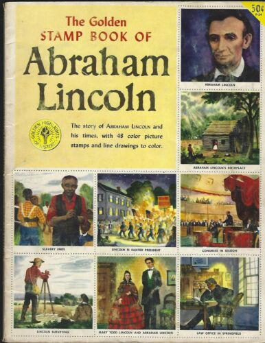 1954  GOLDEN  STAMP  BOOK  OF  ABRAHAM  LINCOLN  48  STAMPS