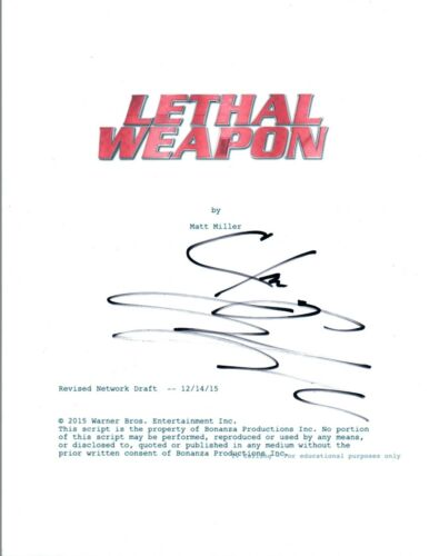 Clayne Crawford Signed Autographed LETHAL WEAPON Pilot Episode Script COA