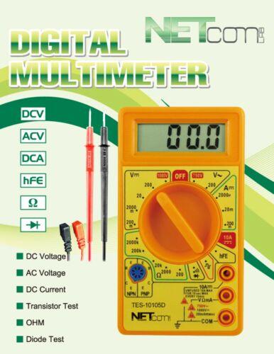 Digital Voltmeter Ohmmeter Ammeter Multimeter Tester Meter Volt AC DC