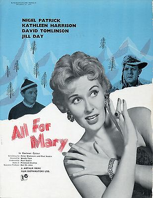 ALL FOR MARY 1955 Nigel Patrick, Kathleen Harrison, David Tomlinson TRADE ADVERT