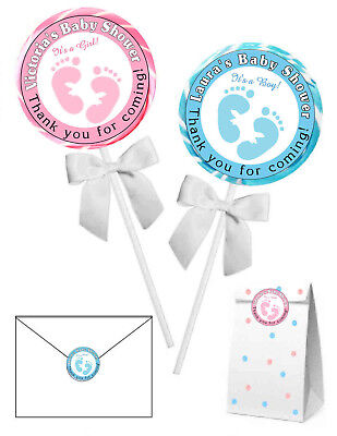20 BABY SHOWER FAVORS STICKERS LABELS for lollipops, goody bags, etc