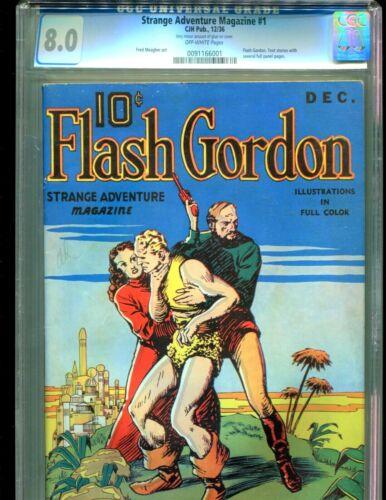 Strange Adventure Magazine 1 CGC 8.0 Flash Gordon 1936 RAREST PULP highest grade
