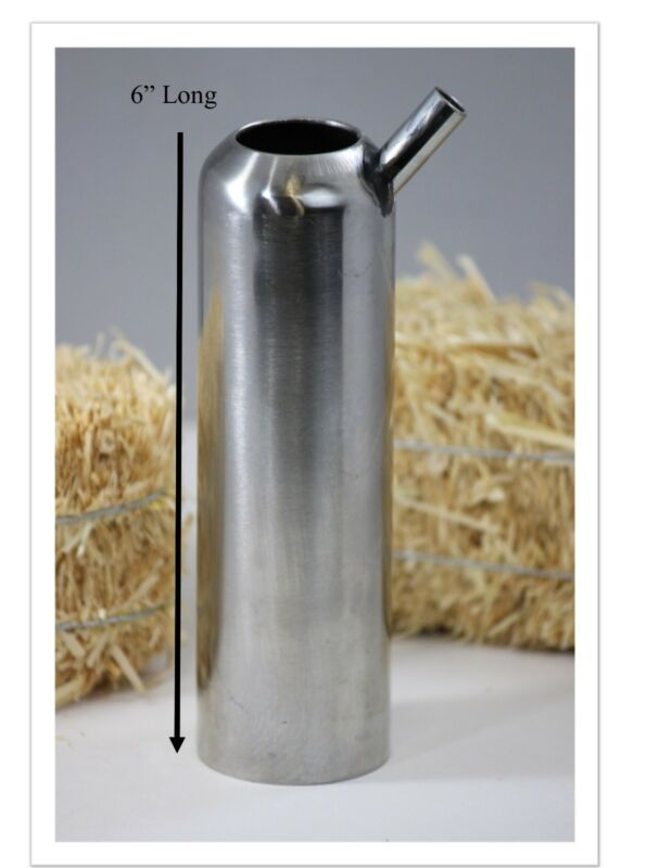 """Long Liner//inflation 12 1//2/""""  for cow with stainless steel shell COMBO! Melasty"""