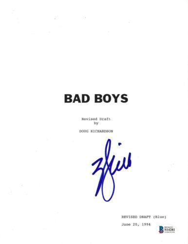 WILL SMITH SIGNED 'BAD BOYS' FULL MOVIE SCRIPT SCREENPLAY ACTOR BECKETT COA BAS