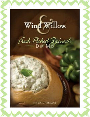 WIND & WILLOW 1 Pack Fresh Picked Spinach Dip Mix~For Chips, Veggies, Crackers - Dip For Crackers