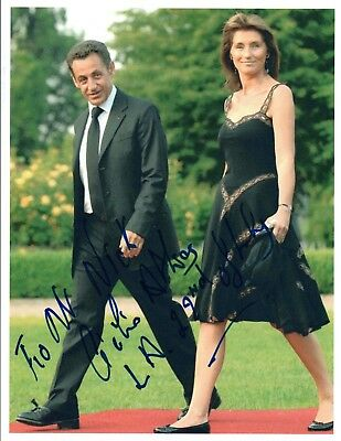 Cecilia Attias Signed Autograph 8x10 Photo Wife of Nicolas Sarkozy COA VD