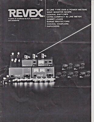 Vintage Revex Wave Monitor Scope Model Ms1 And Meter Brochure