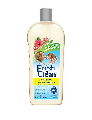 Fresh N Clean Oatmeal Shampoo [Tropical Fresh Scent] (18 oz) Fresh N Clean Dog Shampoo