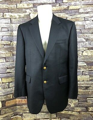 - Ralph Lauren Men's Navy 100% Wool 2 Gold Button Sport Coat Suit Jacket 44R (Bx3)