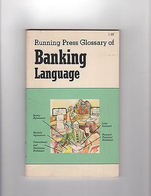 Vintage 1970s running Press Glossary of BANKING LANGUAGE