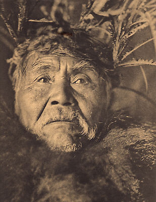 """EDWARD CURTIS Indian Tribe """"THE WHALER""""  Native American Photo Book Print"""